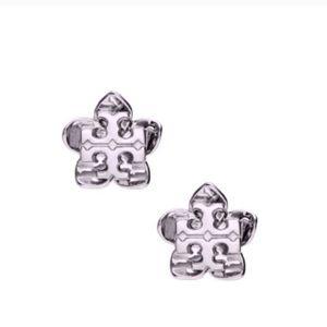 TORY BURCH • Cecily Flower Earrings • Silver